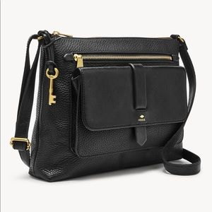 Fossil Kinley Crossbody Purse Pebbled Leather